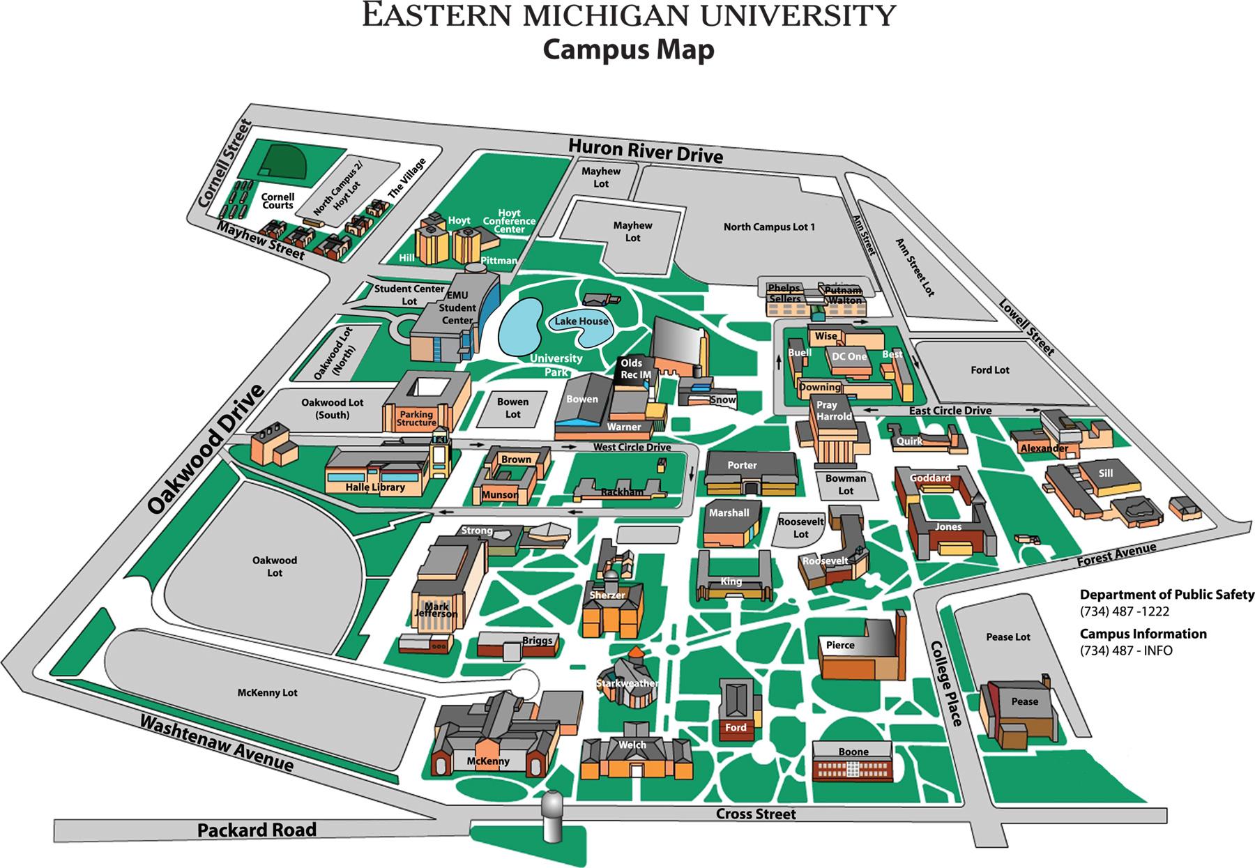 Map Eastern Michigan Area