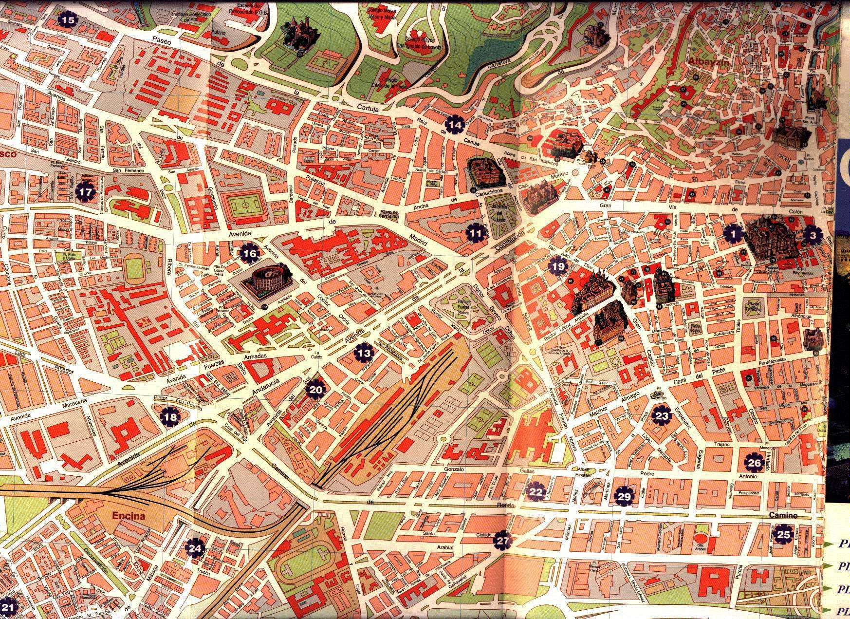 Advertisement granada sightseeing map Full HD