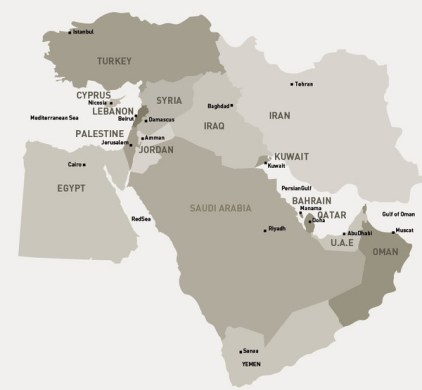 Middle East Map   Saudia Arabia     mappery Fullsize Middle East Map