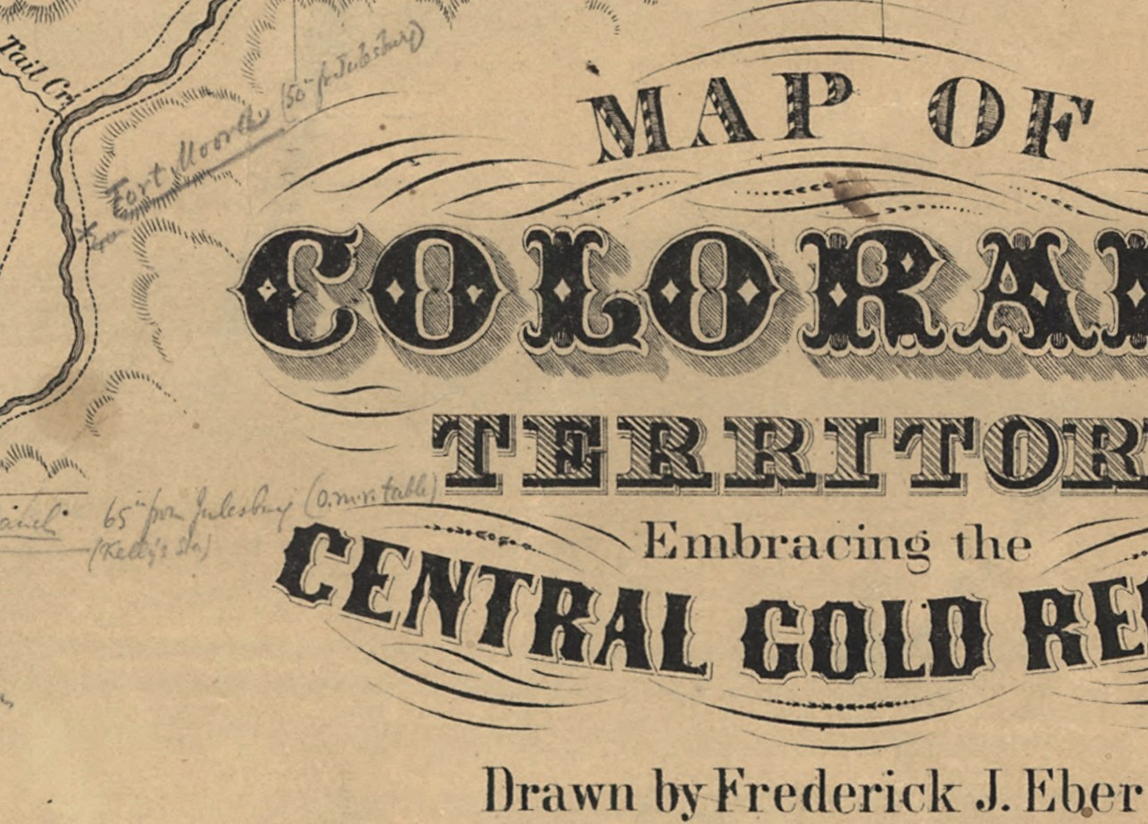 HD Decor Images » Mapping early Colorado and the University of Denver  Mapping the     Ebert Gilpin LoC Post Office title