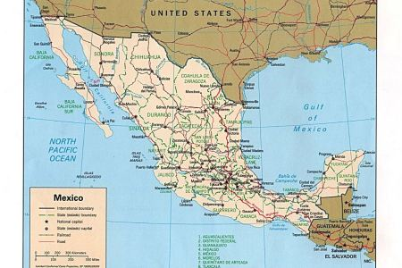 mexico map with states and capitals » Path Decorations Pictures ...
