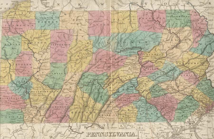 1830 S Pennsylvania Maps The map is dated 1820 31 by counties shown and comes from Anthony Finley s  A New General Atlas  published in 1824  1829  1830  1831