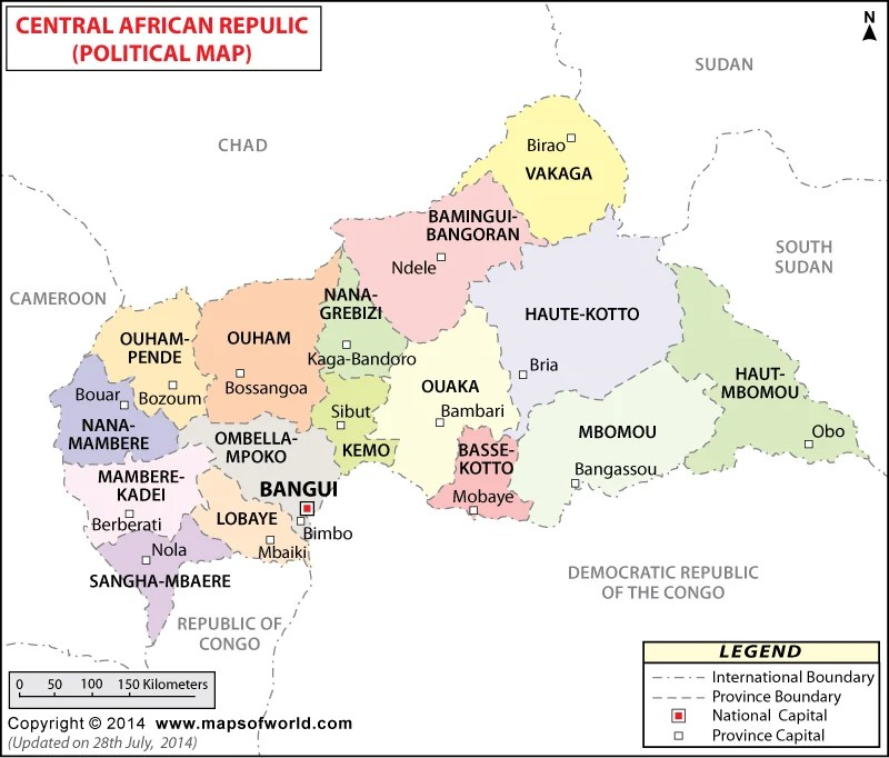 Central African Republic Cities