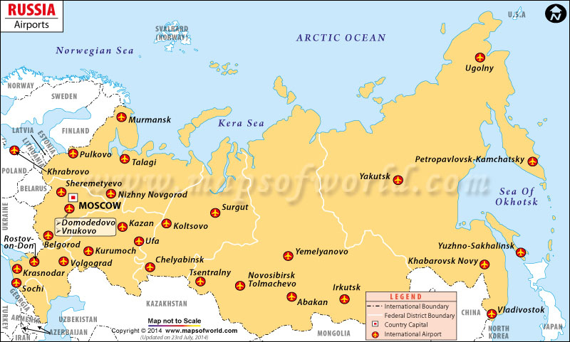 Sochi And Russia Moscow Map