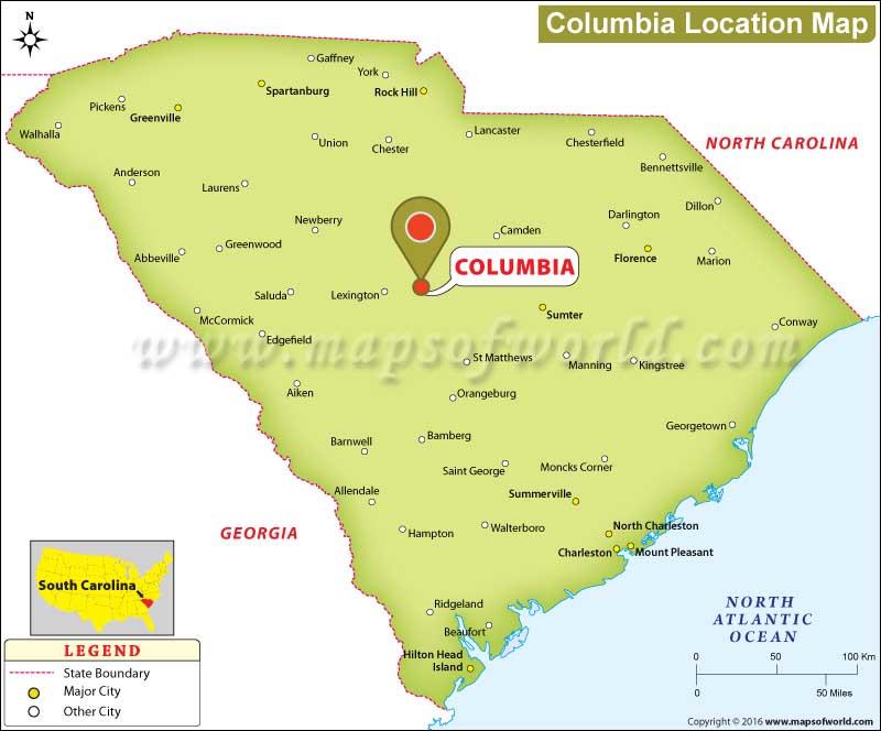 Columbia South Carolina Zip Code Map