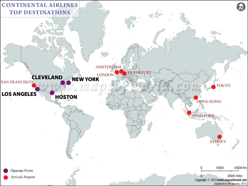 Continental Airlines Flight Schedules | Continental ...