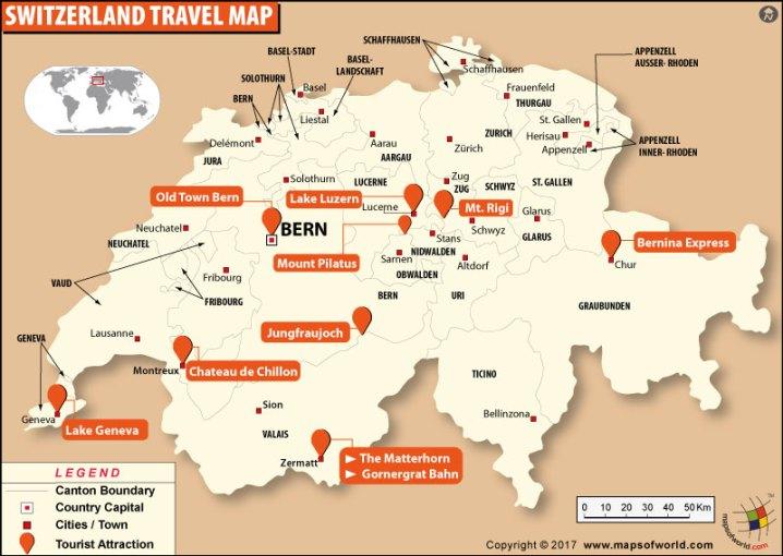 Bern Walking Tour Map