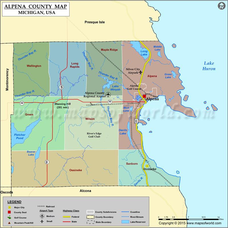 Print Michigan Map Cities