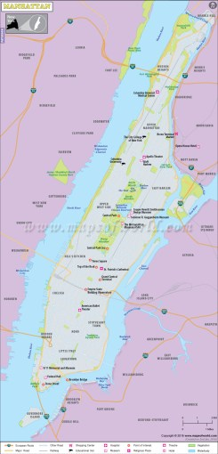 Manhattan Map  Manhattan Neighborhood Map  Map of Manhattan NY Manhattan Map