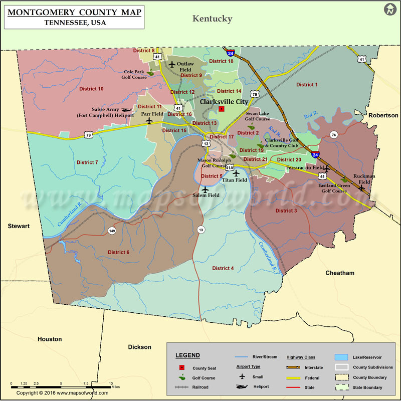 Montgomery County Tn Map