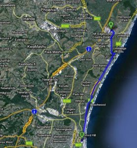 Google Maps Driving Directions now in SA     MarcForrest com Map Map2