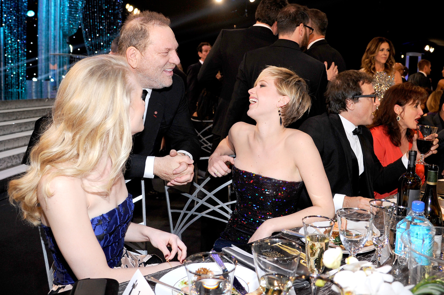 Harvey Weinstein Brie Larson Judd Apatow And Rose