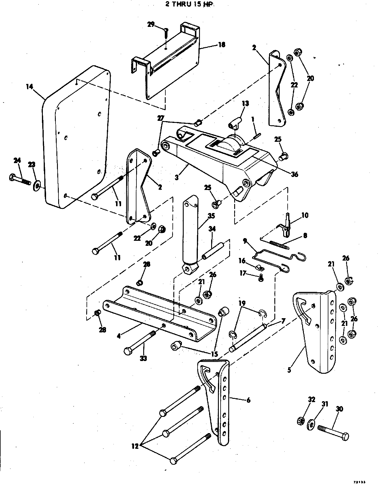 1977section auxiliary motor bracket kit 2 thru 15 hpyid 34200mid 34204sid 36167 nissan engine motor mount diagram nissan engine motor mount diagram
