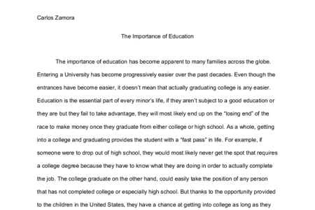 Essay About Why College Education Is Important  Mistyhamel The Importance Of Education Essay Writing Poemdoc Or