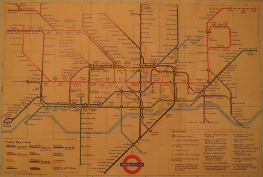 How things used to be  the London tube map  1987 London tube map 1987