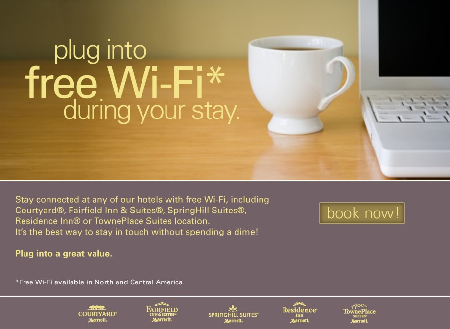 Hotels With Free Wifi On Marriott Com