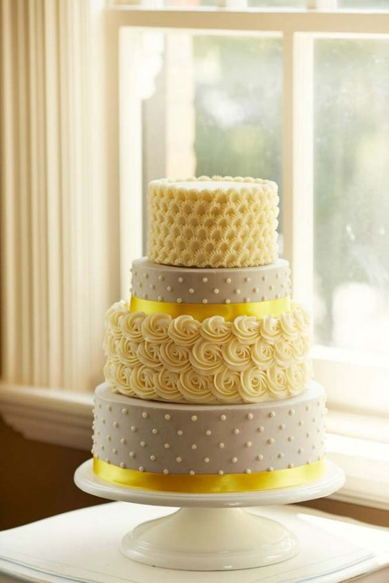 Wedding Cake Colors   Mellow Yellow   Marrying Later in Life yellow wedding cake