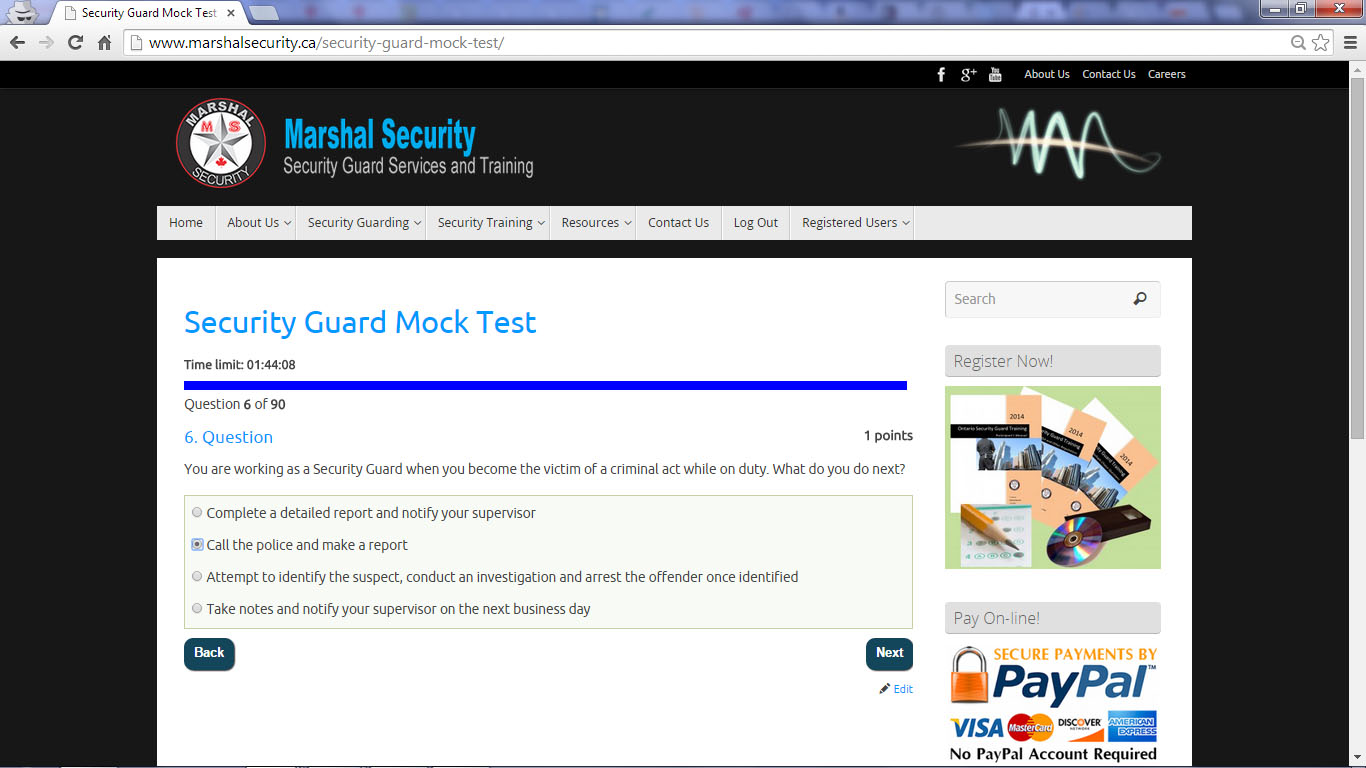 Security Guard Training 34th Street