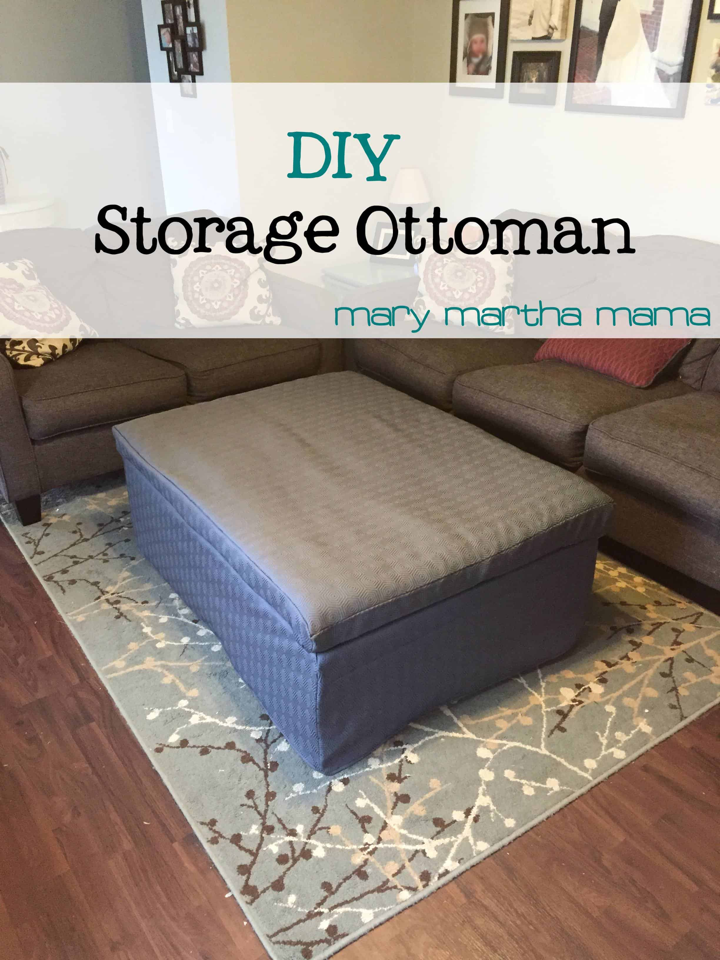 Extra Long Storage Ottoman