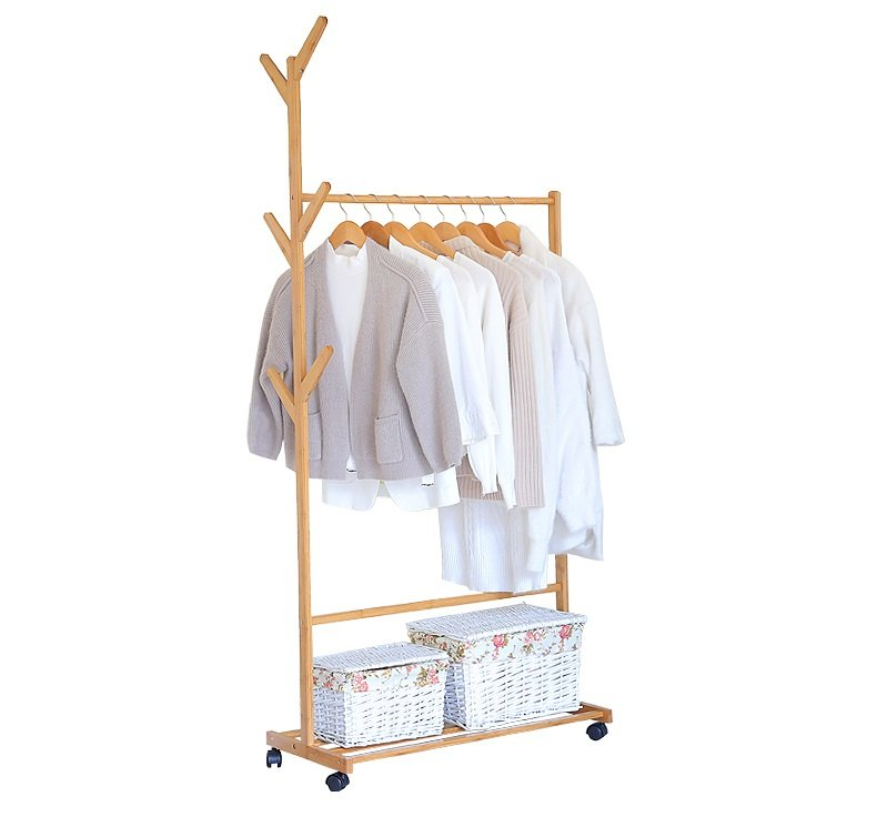 Wheels Clothes Rack Laundry