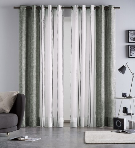 Combined curtain Martina Petrol   matejovsky bedding com Give your interior style with a glamorous  2in1  curtain  Perfectly  matching shades of charming colours suit with transparent white tulle  decorated