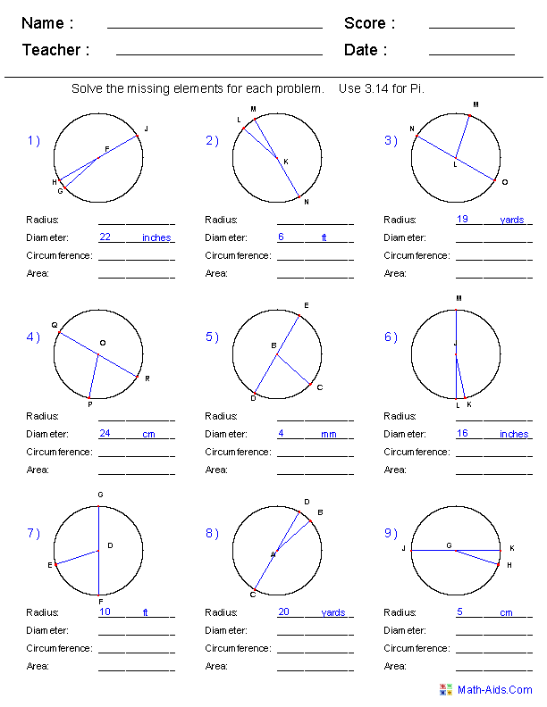 Missing Angles 5th Grade Worksheet