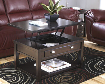 Lift Top Rectangular Cocktail Table In Brown Mathis