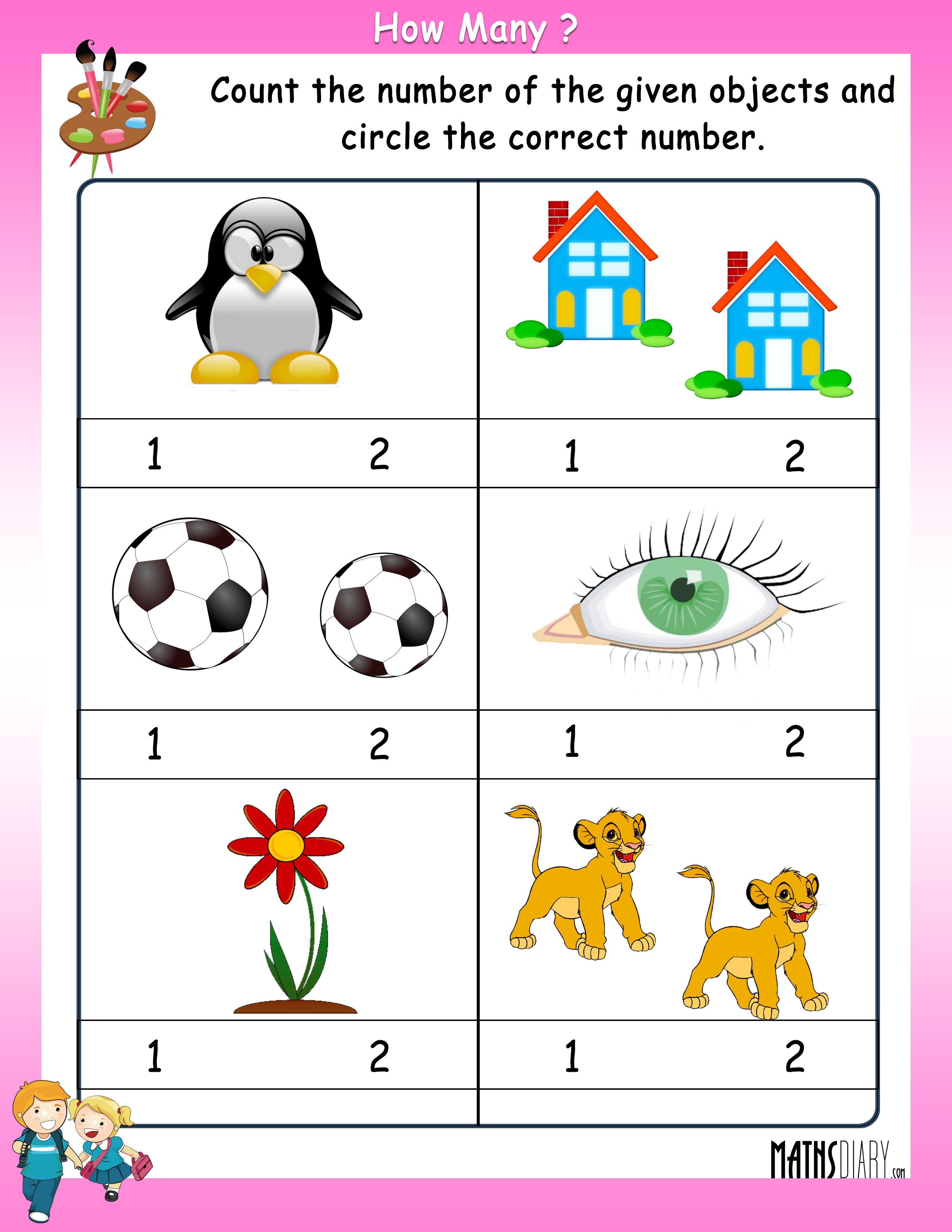 Counting Objects Worksheet Free Worksheets Library Download And