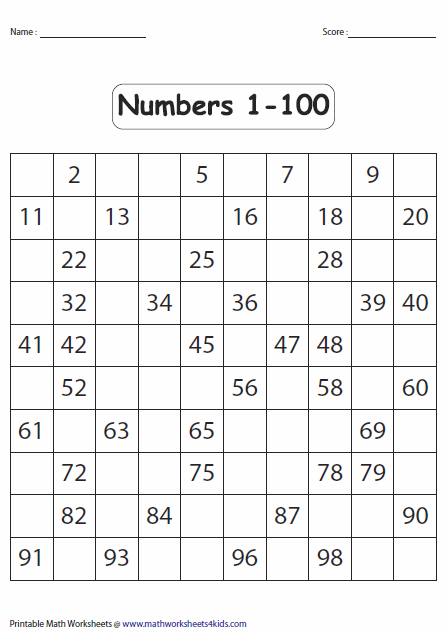 Numbers 0 Ordering Worksheet 20