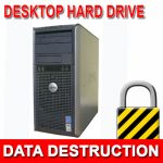 Mobile hard drive data destruction
