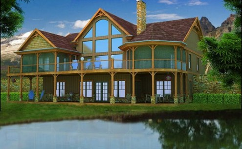 Lake House Plans   Specializing in lake home floor plans adirondack mountain house plan
