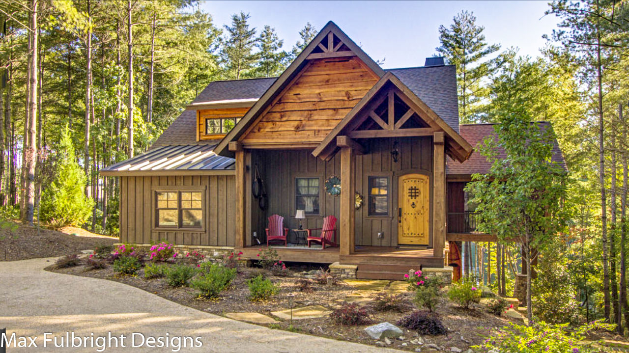 Best Kitchen Gallery: Small Cabin Home Plan With Open Living Floor Plan of Small Cabins And Cottages on rachelxblog.com