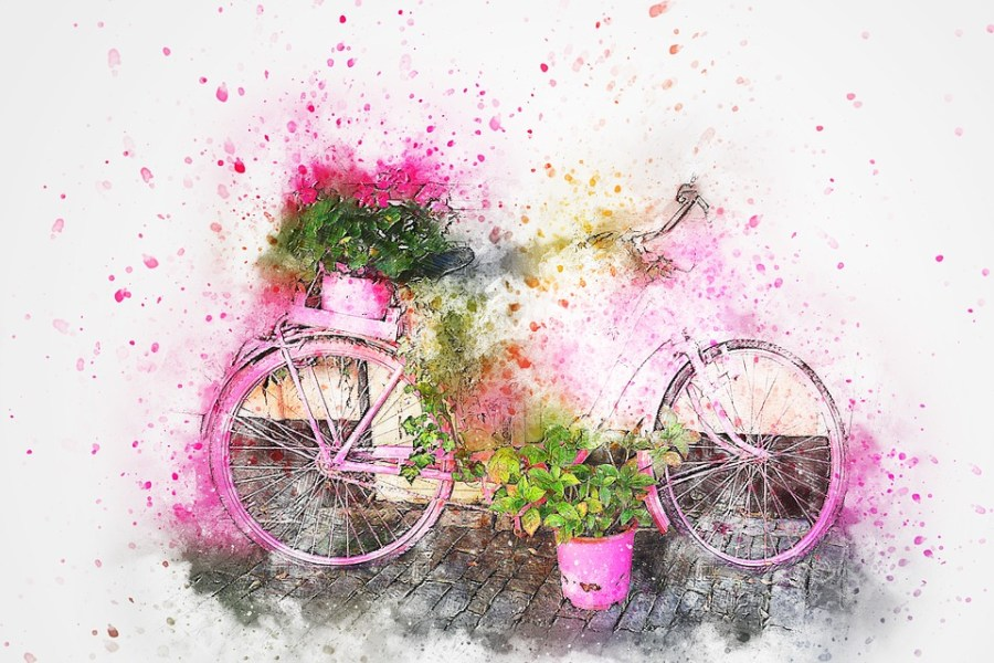 Free photo Flowers Vintage Watercolor Abstract Art Bicycle   Max Pixel Bicycle  Flowers  Art  Abstract  Watercolor  Vintage