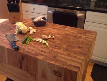 Mcclure Block Hardwood Kitchen Countertops Butcher Block