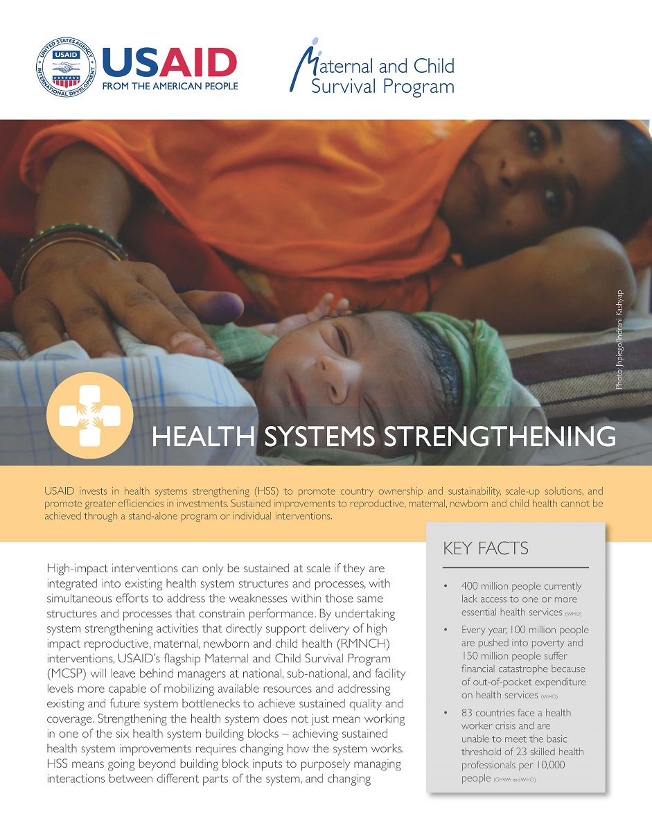 MCSP Health Systems Strengthening Fact Sheet