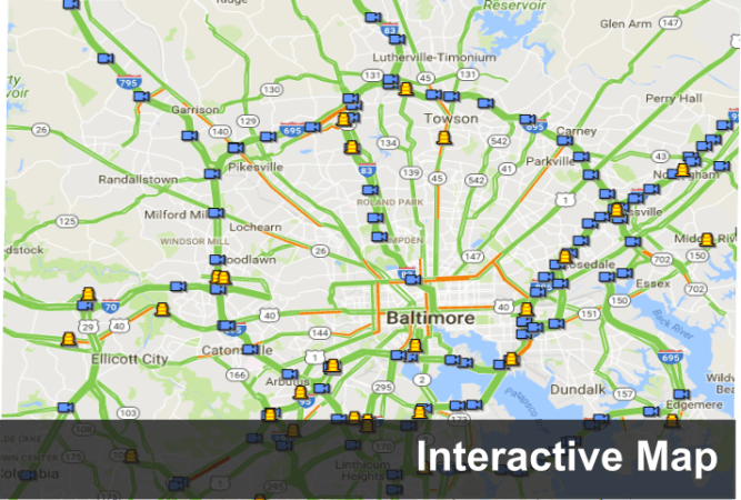 CHART   Coordinated Highways Action Response Team A link to Interactive Map page image