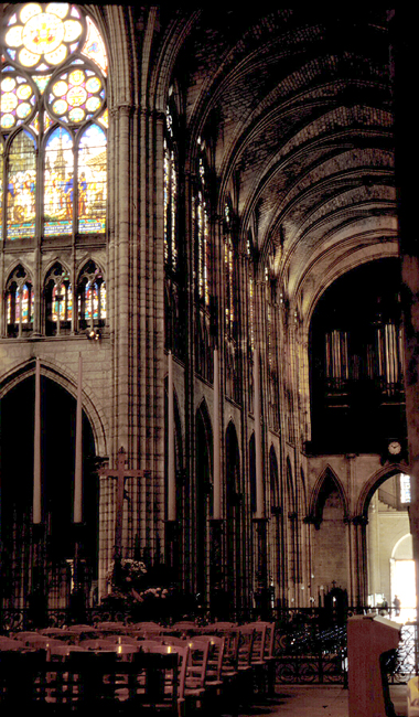 Medieval Saint Denis Nave And Transept
