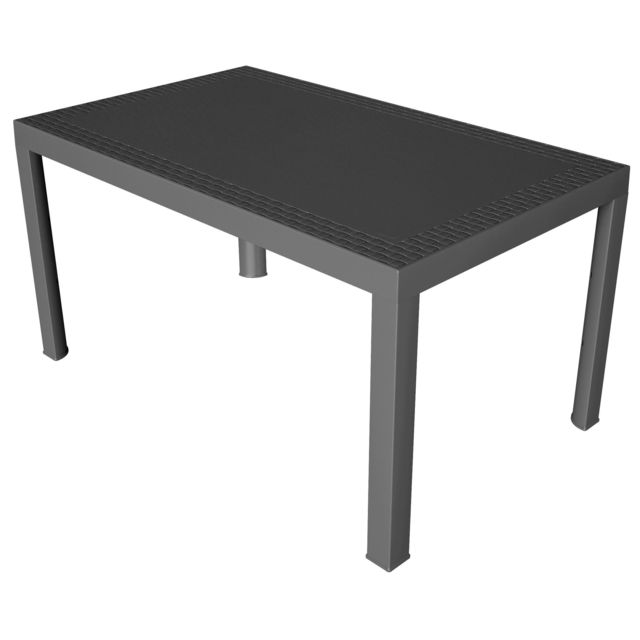 CARREFOUR   DREAM   Table de jardin rectangulaire   Anthracite     CARREFOUR   DREAM   Table de jardin rectangulaire   Anthracite   75191  140cm x 73cm x