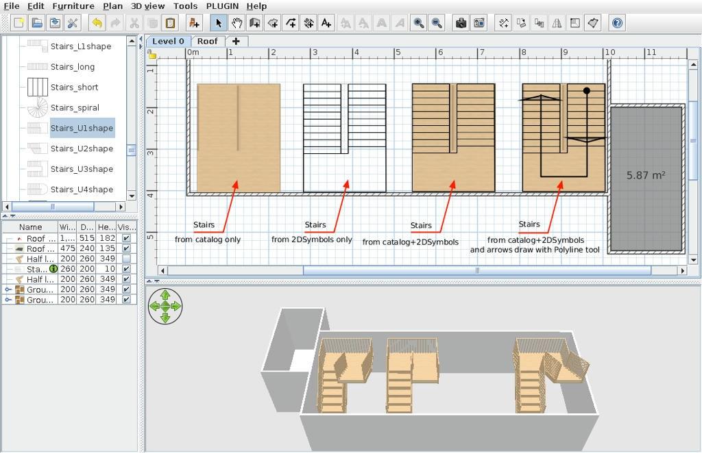 Sweet Home 3D Forum View Thread Better Symbols In 2D View | Sweet Home 3D Custom Stairs | Mural | Mezzanine | Interior Design | Mezzanine Floor | 3D Models