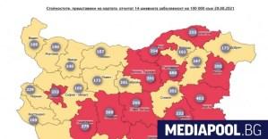 Повече от 2 000 заразени с Covid-19, 109 са починали, 12 области са в червената зона