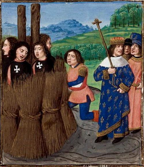 Templars Burned Stake