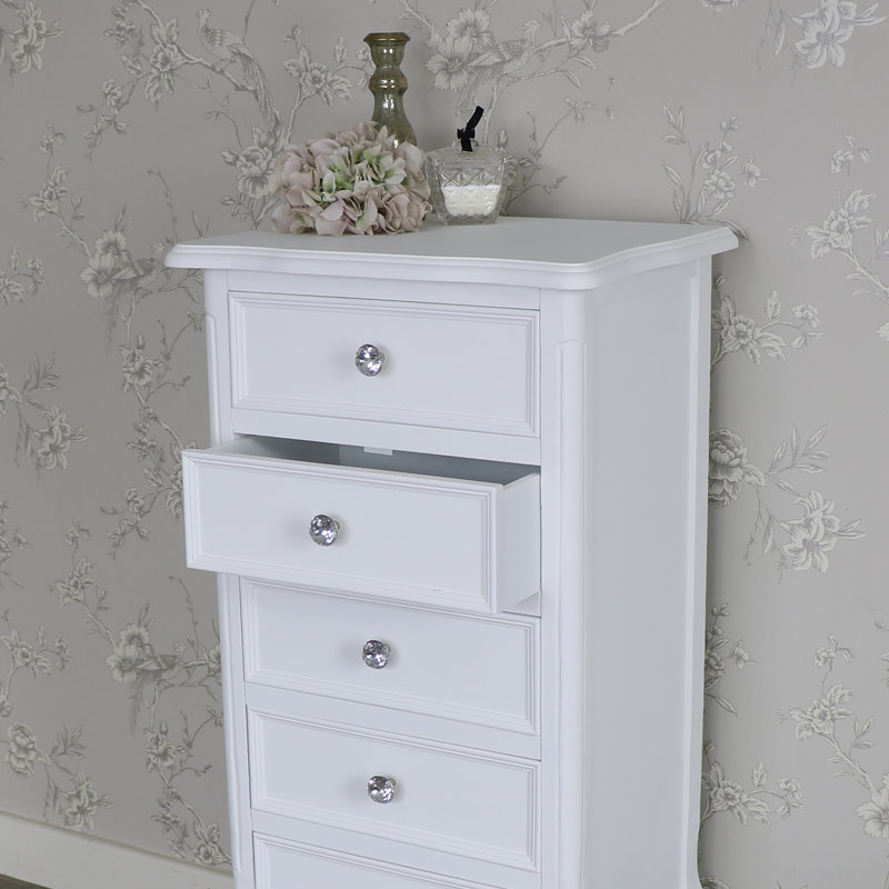 White 5 Drawer Chest Drawers