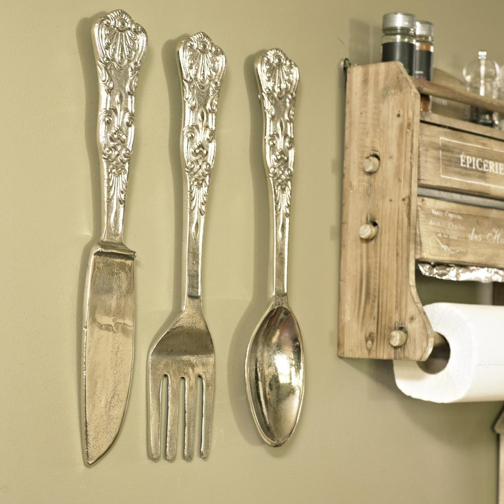 Big Spoon And Fork Wall Plaques
