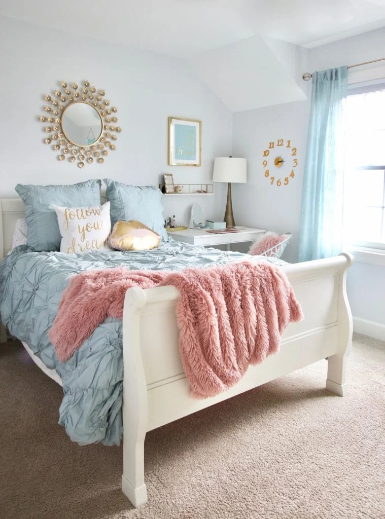 Designing Teen Room To Last White Furniture Makeover