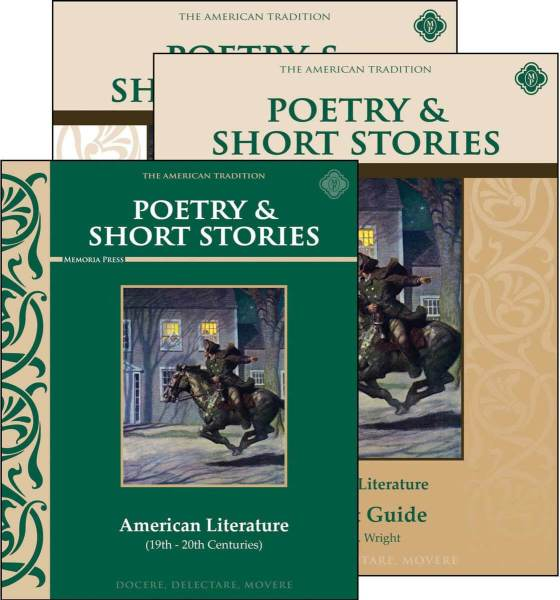 Poetry   Short Stories  American Literature Set   Memoria Press Poetry   Short Stories  American Literature Set