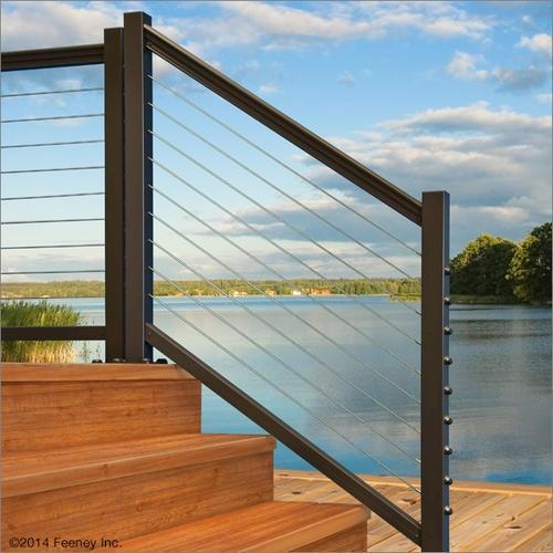 Designrail Threaded Terminal End Post Kit For 36 Stair   Outdoor Stair Railing Menards
