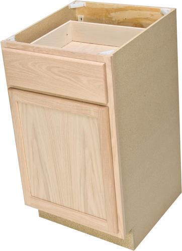 Quality One 21 Quot X 34 1 2 Quot Unfinished Oak Base Cabinet