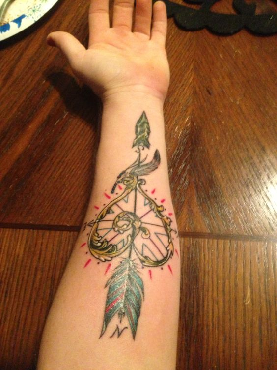 Watercolor Flower Tattoo Arm