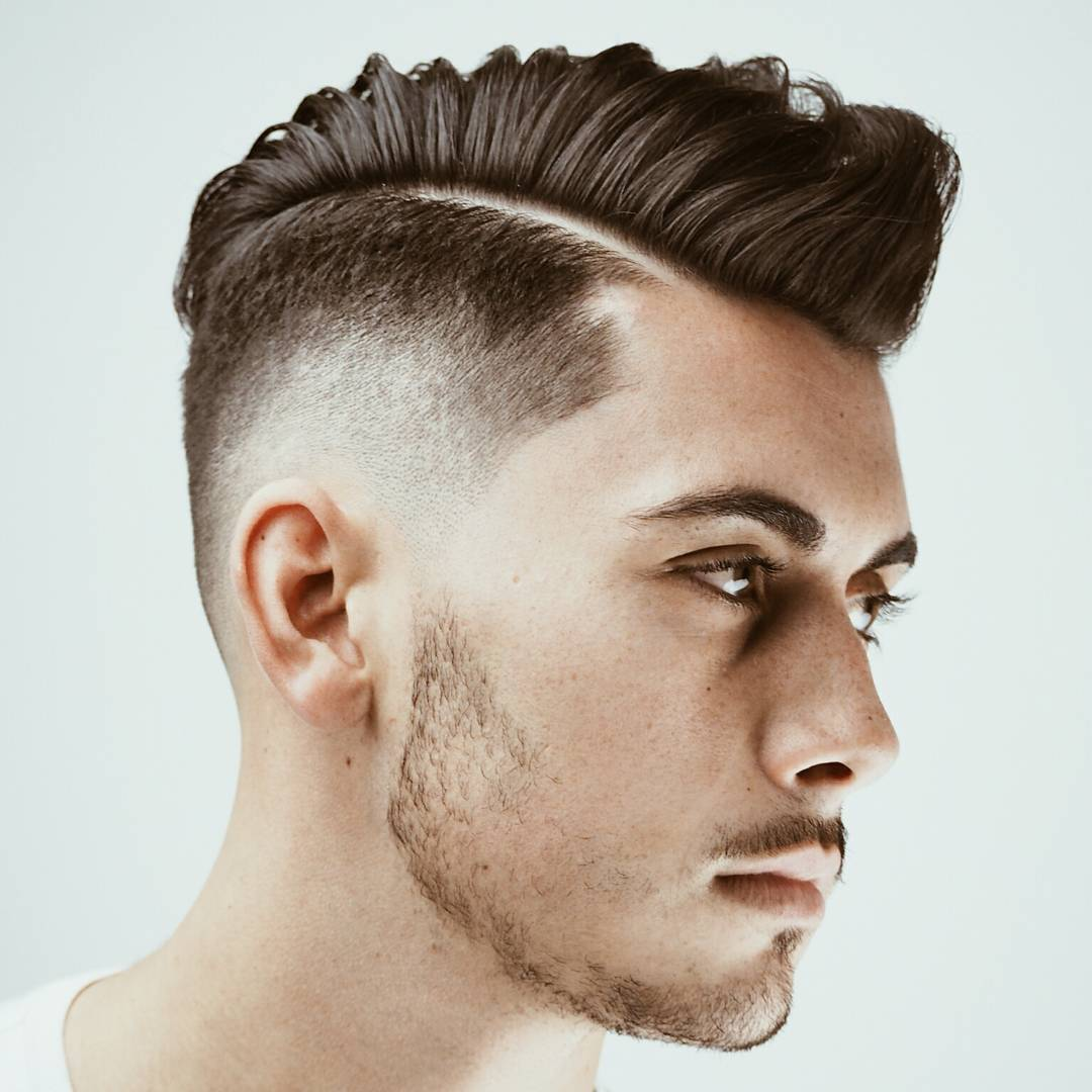 Face Men Hairstyle Short Mohawk Round