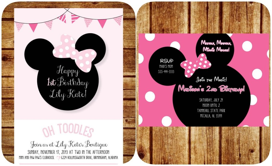 Hacer De Como Mouse Invitaciones Baby Shower Minnie Para